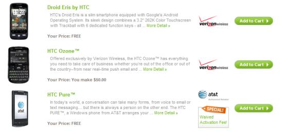HTC lancia uno store online negli Stati Uniti