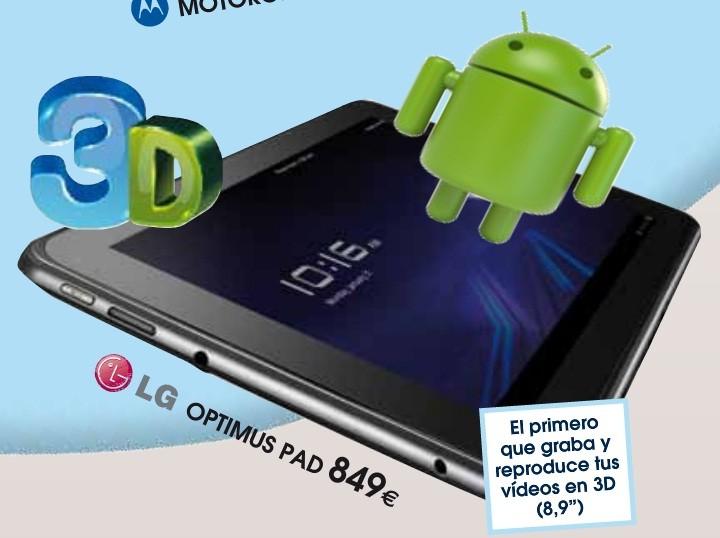 I prezzi dei principali tablet Honeycomb. LG Optimus Pad a 849€