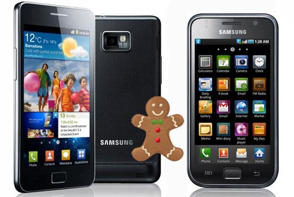Android Gingerbread 2.3.4 per Samsung Galaxy S e Galaxy S II