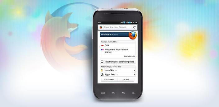 Firefox 9.0 Beta: compatibilità con tablet ed Android Honeycomb