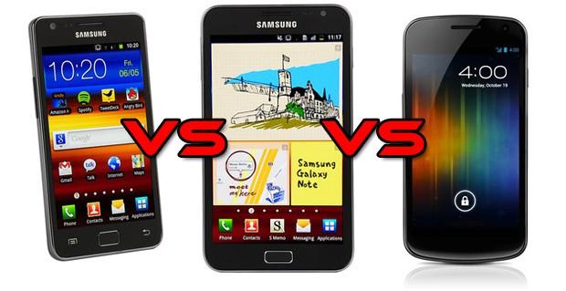 Galaxy S II vs Galaxy Note vs Galaxy Nexus: sfida browser