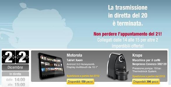 Sottocosto Motorola XOOM : il 22 dicembre dalle 14:00 alle 15:00 su MediaWorld Online!