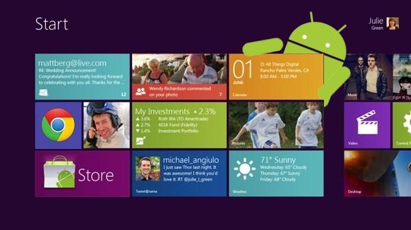Skydroid porta l'interfaccia Windows 8 su Android