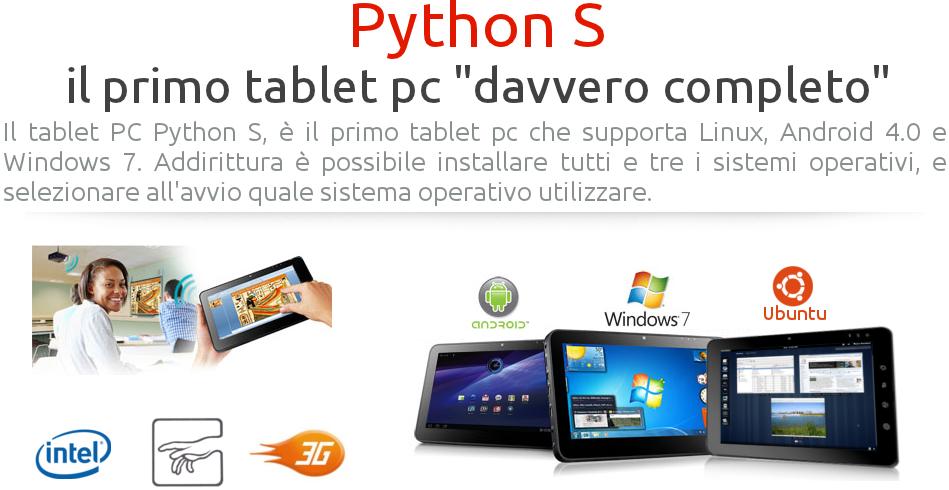 Ekoore Python S: il tablet con 3 sistemi operativi