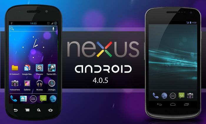 Android 4.0.5 su Samsung Galaxy Nexus di Verizon da Aprile