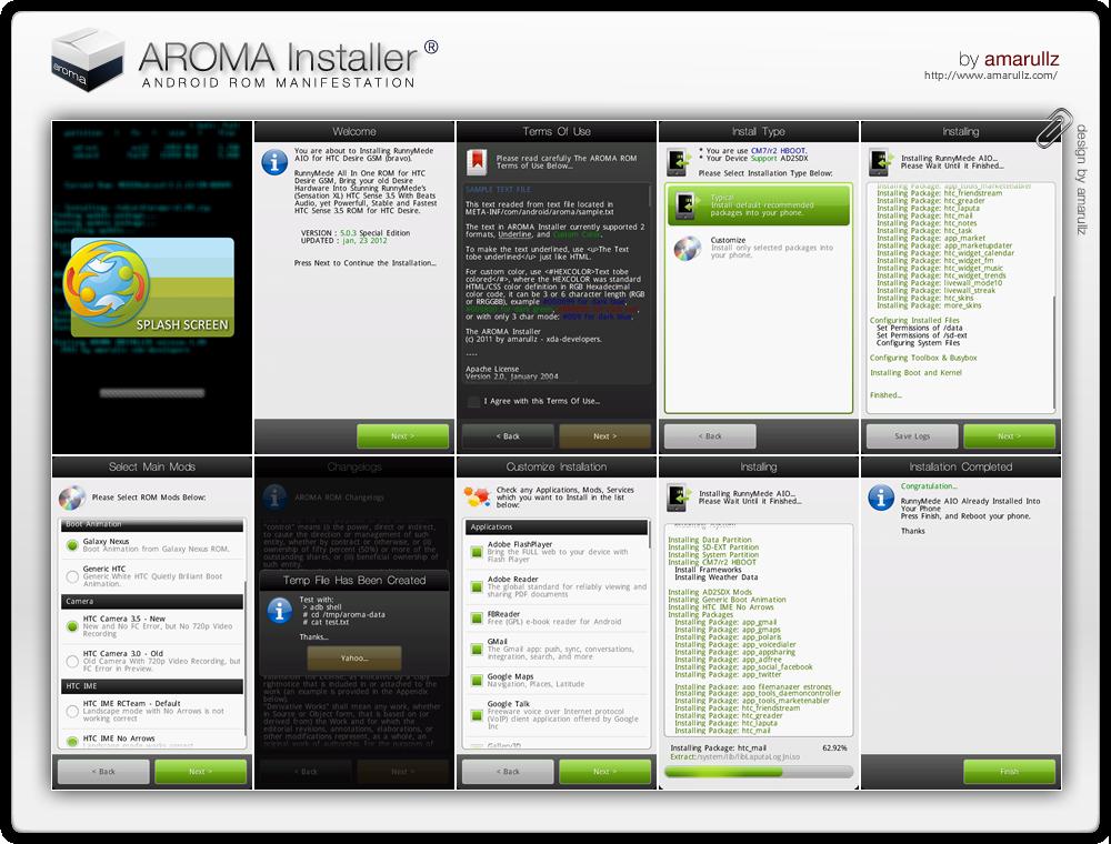 AROMA Installer: interessante tool per le ROM