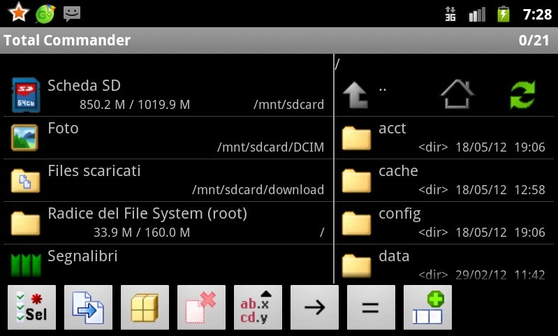 Total Commander disponibile sul Play Store