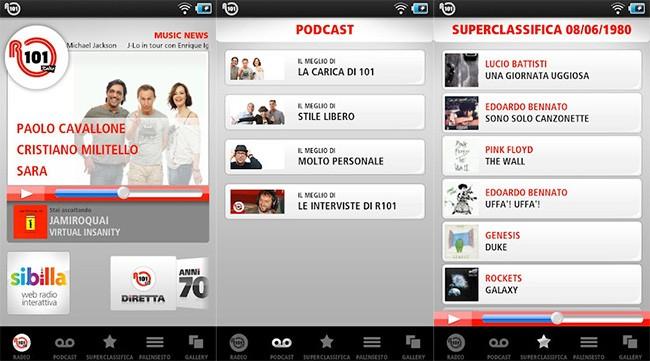 R101, la radio del gruppo Mondadori arriva su Android