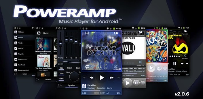 PowerAMP si aggiorna: supporto ad HTC One X e action bar per ICS