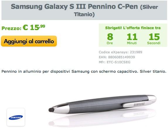 Samsung C-Pen: fino a mezzanotte in offerta su Expansys a 15,99 €