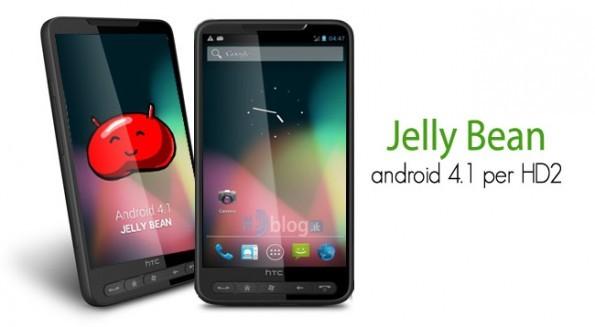 Prima ROM con Android 4.1 Jelly Bean per HTC HD2
