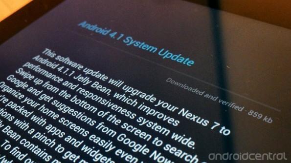 Nuovo aggiornamento OTA per il Nexus 7