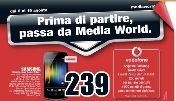 MediaWorld Milano: da oggi il Galaxy Nexus in offerta a 239€ [CONFERMATO]