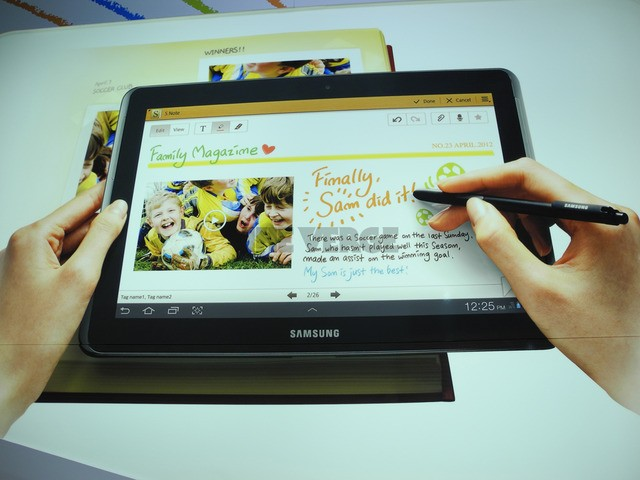 Galaxy Note 10.1 Hands-on ufficiale