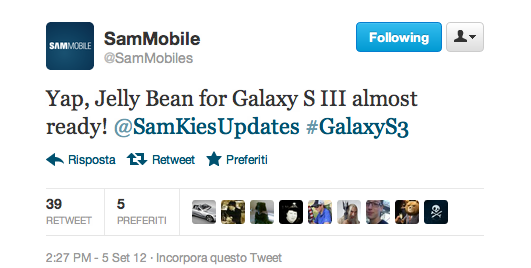 [FLASH NEWS] Jelly Bean per Galaxy S III è quasi pronto - In attesa della XXDLI2