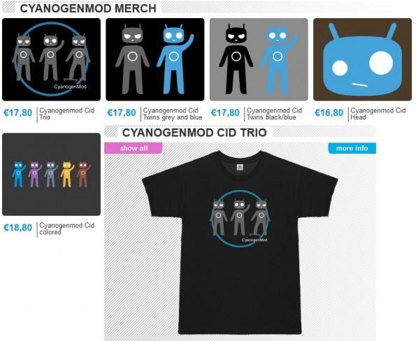CyanogenMod : arrivano le T-shirt e non solo