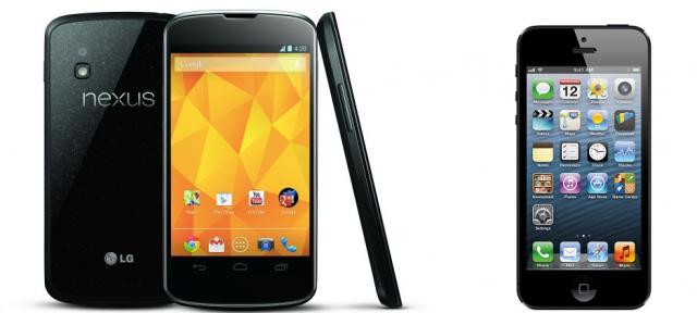Il grande confronto: Nexus 4 Vs iPhone 5