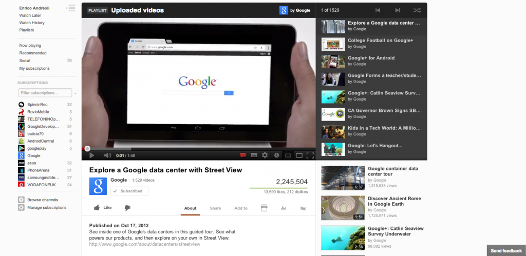 Google aggiorna il sito YouTube