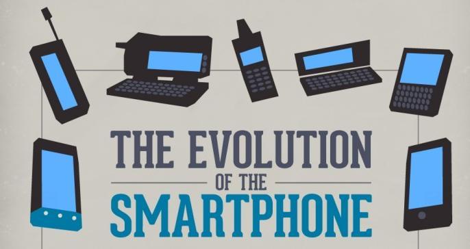 Infografica sull'evoluzione degli smartphone secondo HTC
