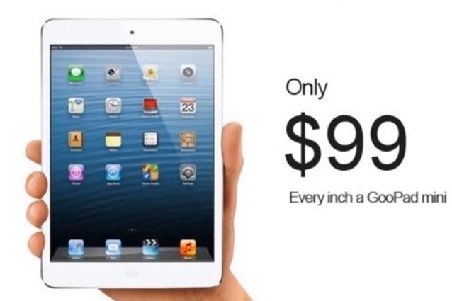 Arriva GooPad Mini, il rivale cinese dell'iPad Mini a 99$