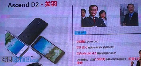 Huawei Ascend D2: confermato il display con risoluzione Full HD