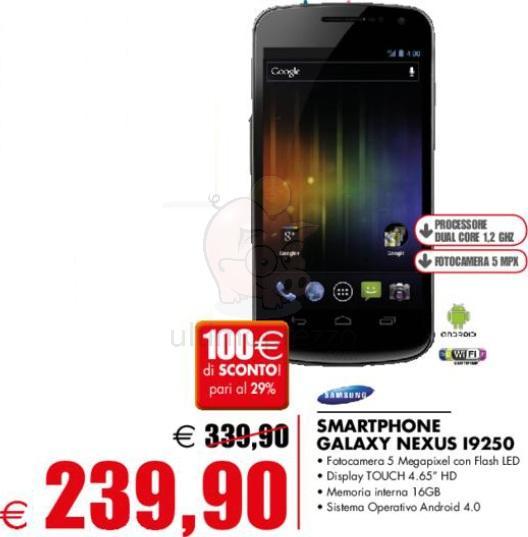 Galaxy Nexus in offerta a 239€ a Savignano sul Rubicone