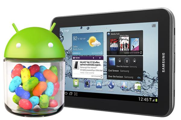 Samsung Galaxy Tab 2 7.0 WiFi: iniziato il roll out di Android 4.1 Jelly Bean