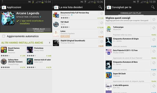 Google Play Store: disponibile un nuovo aggiornamento (3.10.9)