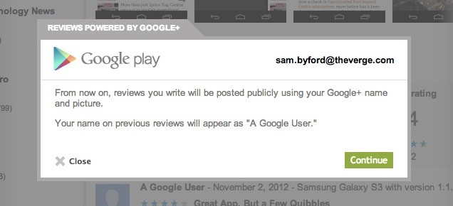 Play Store: da oggi i commenti richiedono Google+