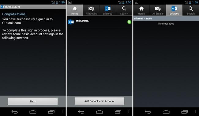 Outlook.com: disponibile l'applicazione ufficiale per Android