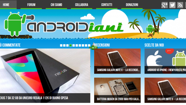 Nuovo layout per il Blog di Androidiani per i 4 anni del sito