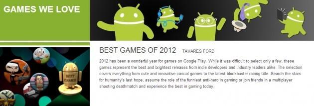 Android: i 12 migliori giochi del 2012 secondo Google