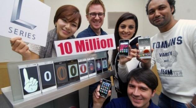 LG ha venduto 10 milioni di smartphone