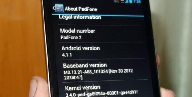 Asus PadFone 2: inizia il rilascio di Android 4.1.1 Jelly Bean