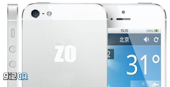 Zophone i5: nuovo clone di iPhone 5 ma con Android 4.2 Jelly Bean