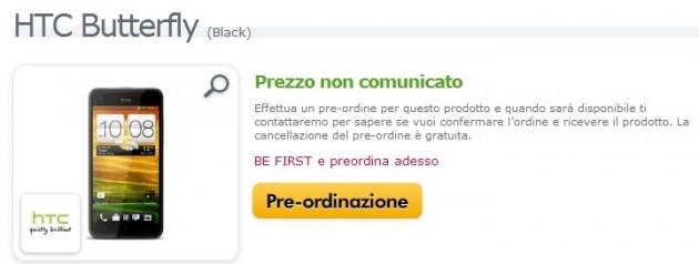 HTC Butterfly disponibile in pre-ordine su Expansys Italia