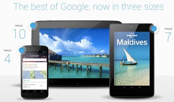 Nexus 10 vs Nexus 7 vs Nexus 4: confronto web browsing