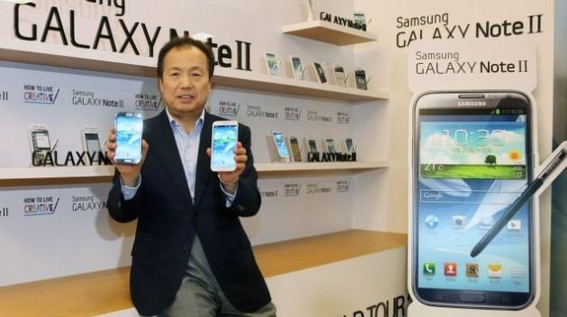 Samsung Galaxy Note II: vendute 1 milioni di unità