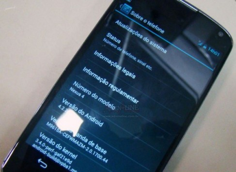 LG Nexus 4: in Brasile appare Android 4.2.2 Jelly Bean [UPDATE: Video]