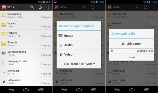 MEGA per Android: una nuova app non ufficiale per l'omonimo servizio cloud