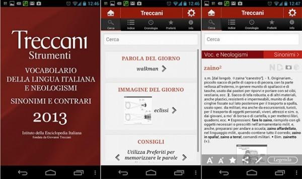 Vocabolario 2013 Treccani su Android