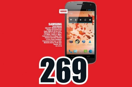 Galaxy Nexus a 269€ da Media World [14 Feb - 3 Mar]