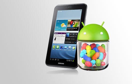 Samsung Galaxy Tab 2 7.0: iniziato il roll-out di Android 4.1.2 Jelly Bean