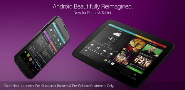 Chameleon Launcher arriva su smartphone in versione beta