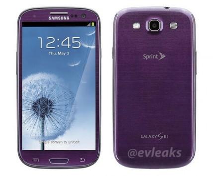 Il Samsung Galaxy S III sarà presto disponibile anche in viola