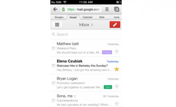 Google aggiorna l'interfaccia della versione mobile di Gmail