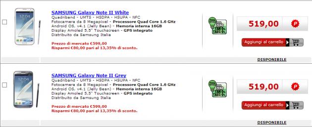 Samsung Galaxy Note 2: in offerta a 519€ da Media World