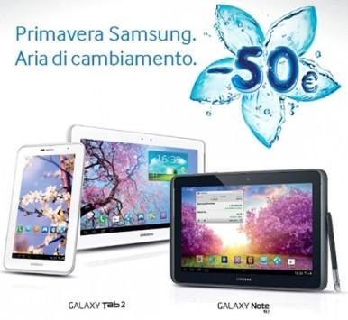 Promozione Samsung: 50€ di sconto per chi acquista un tablet 3G o 4G entro la fine di Maggio