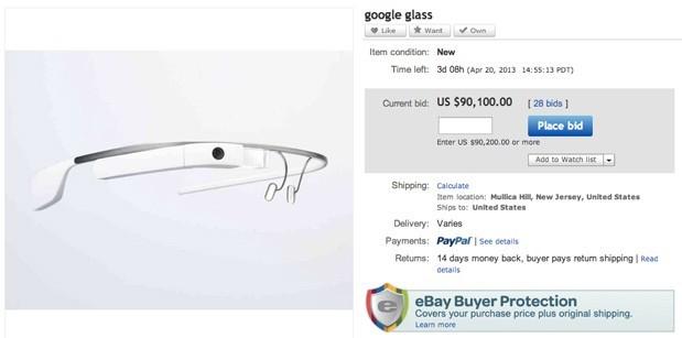 Google Glass già in vendita su eBay a 90mila dollari