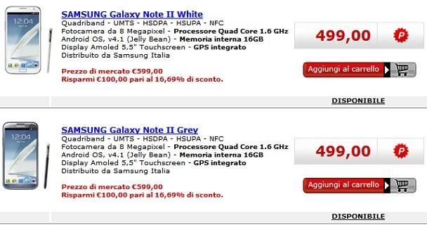 Samsung Galaxy Note 2 in offerta da Media World a 499€